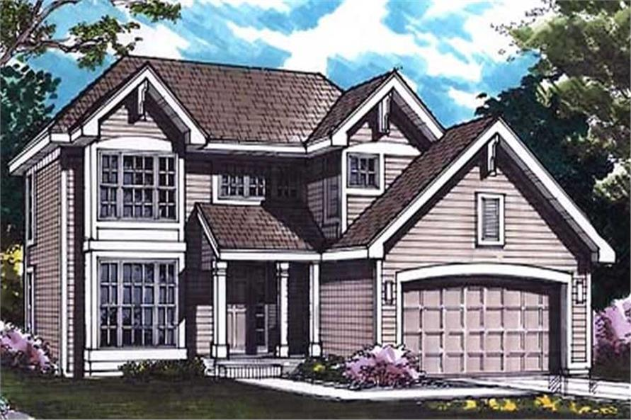 This image shows the colored front elevation of Country House Plans LS-B-92022.