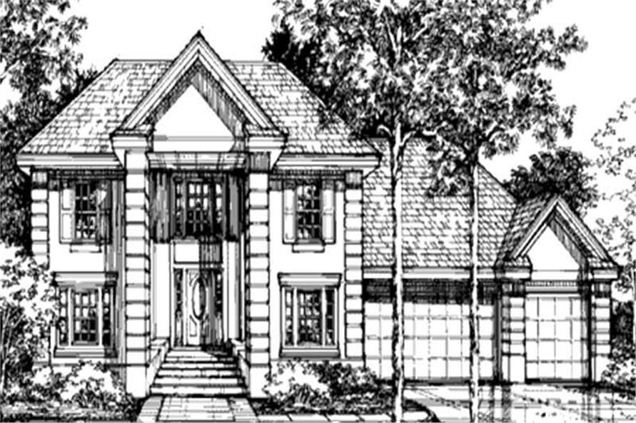 This is the front elevation of European Home Plans LS-B-92016.