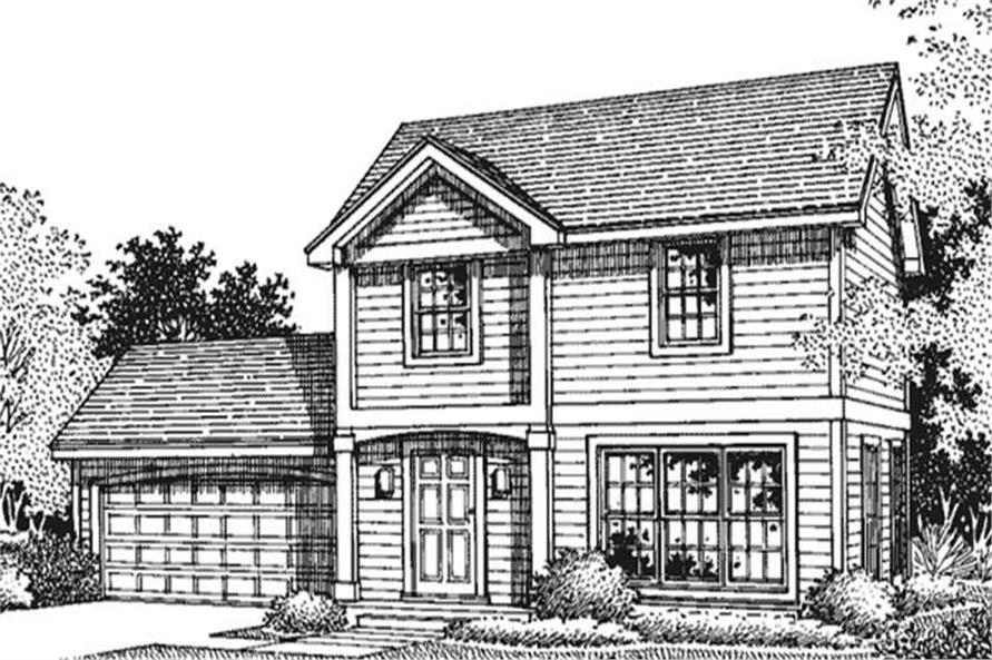This shows the front elevation of these Traditional Houseplans LS-B-94028.