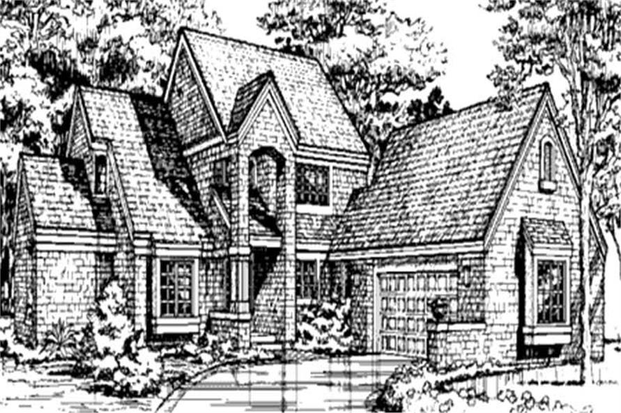 This is the front elevation for European Houseplans LS-B-92019.