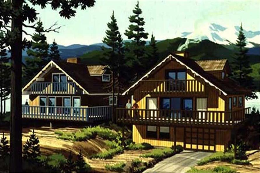 This is the colored rendering of Vacation Houseplans LS-H-720-10.