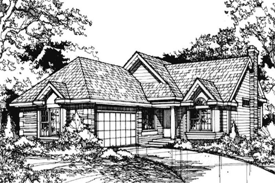 Front elevation for Ranch Houseplans LS-B-89068.