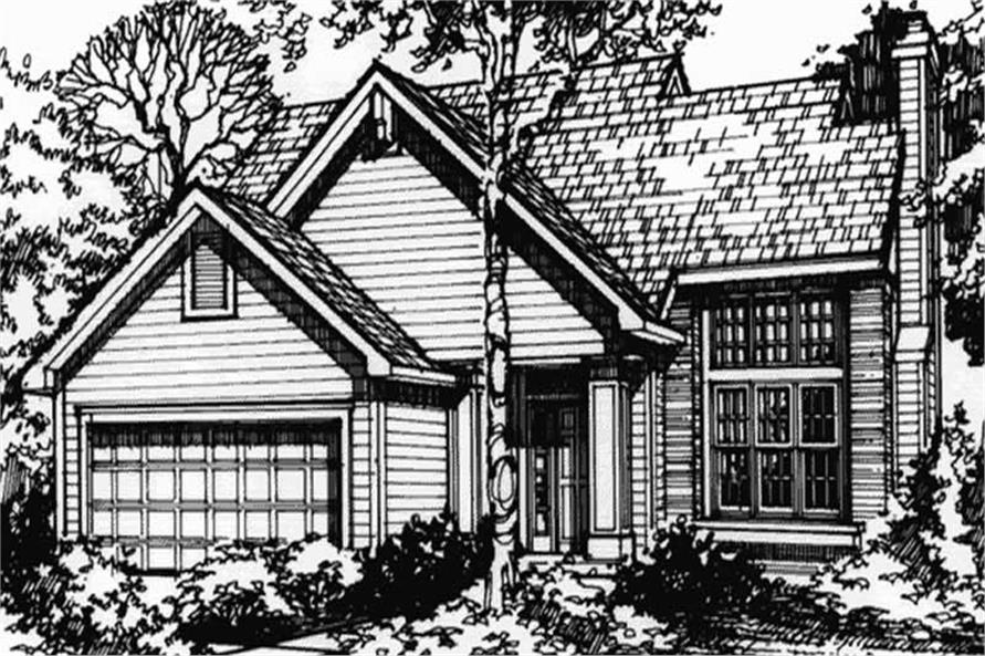 Front elevation of Country Home Plans LS-B-90028.