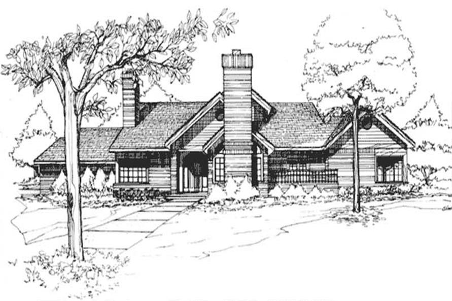 This image shows the Specialty/1-1/2 Story Style of this set of House Plans.
