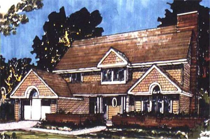 This image shows the Country Style of this set of House Plans.