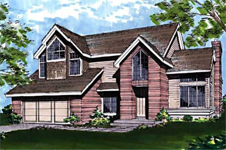 This image shows the Ranch Style of this house plan