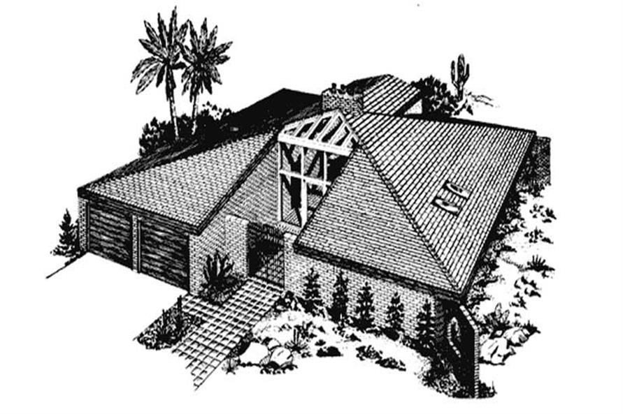 Front View of this home plan