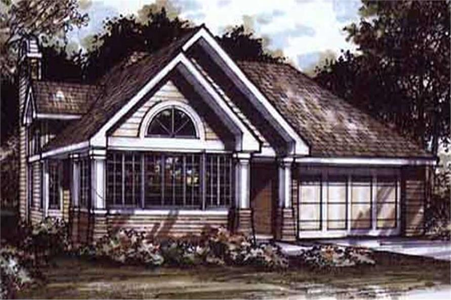 This image shows the Bungalow/Craftsman/Ranch Style of this house plan.