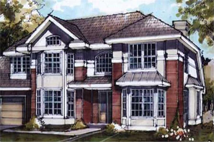 Country Homeplans LS-B-89058 Colored Rendering.