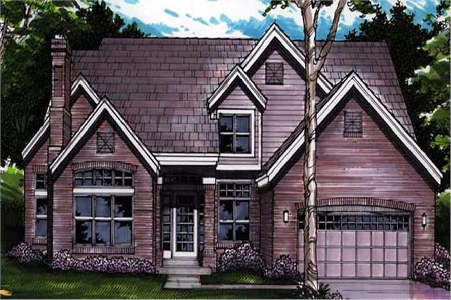 Country Home Plans LS-B-91034 colored rendering.