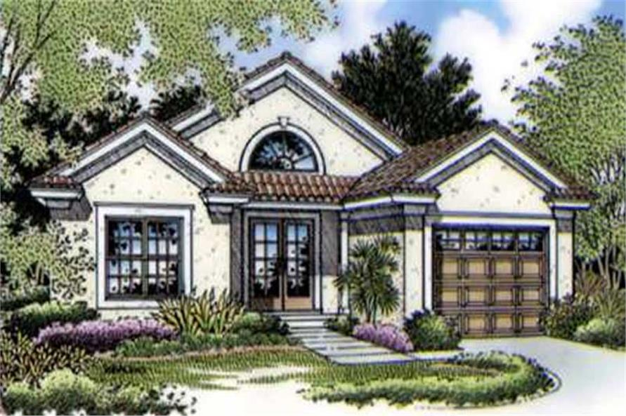 This is a colored rendering of Southwestern Home Plans LS-B-95010.