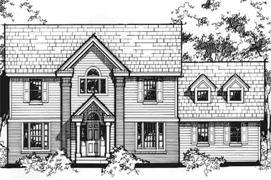 Country Home Plans LS-B-90003 Front Elevation.