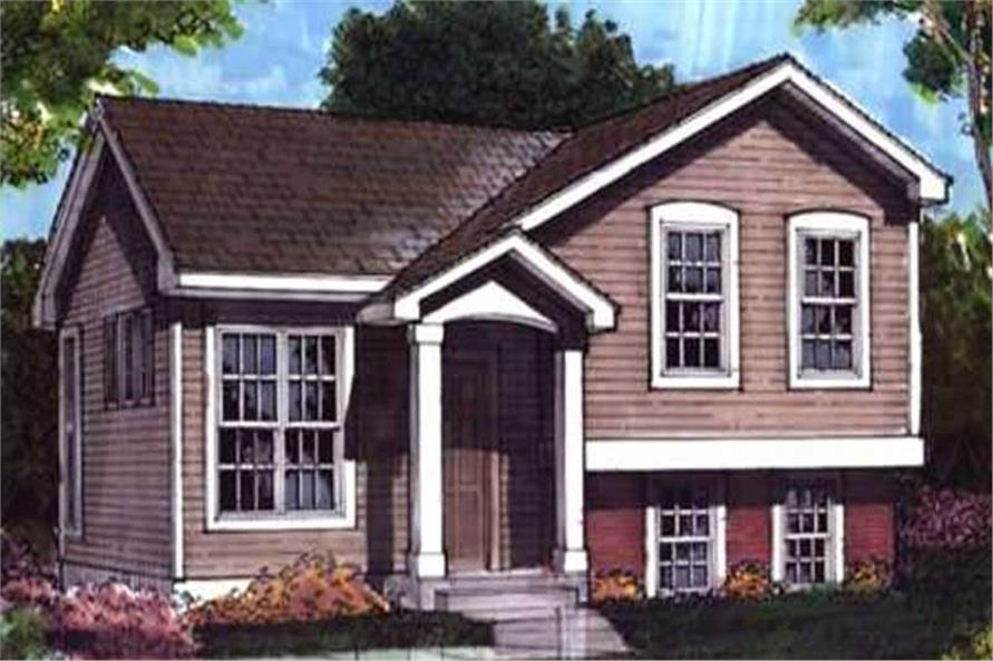 Country House Plans LS-B-92009 Front Elevation.