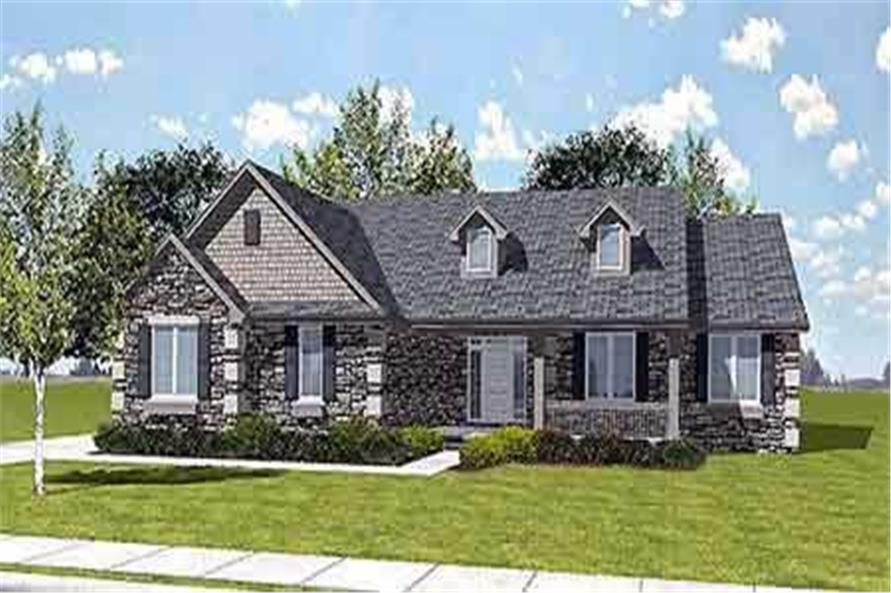 Color Rendering of this home design
