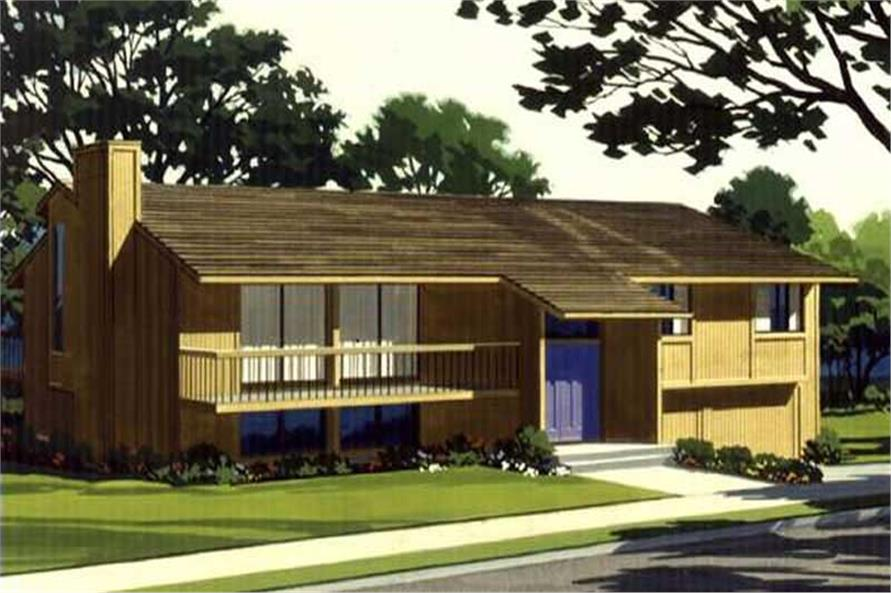 Front View to this house plan.