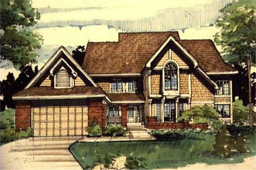 This image shows the Specialty/Country/Ranch Style of this set of house plans.