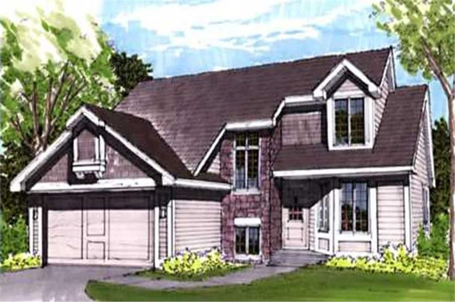 This image shows the Traditional Style of this set of house plans.
