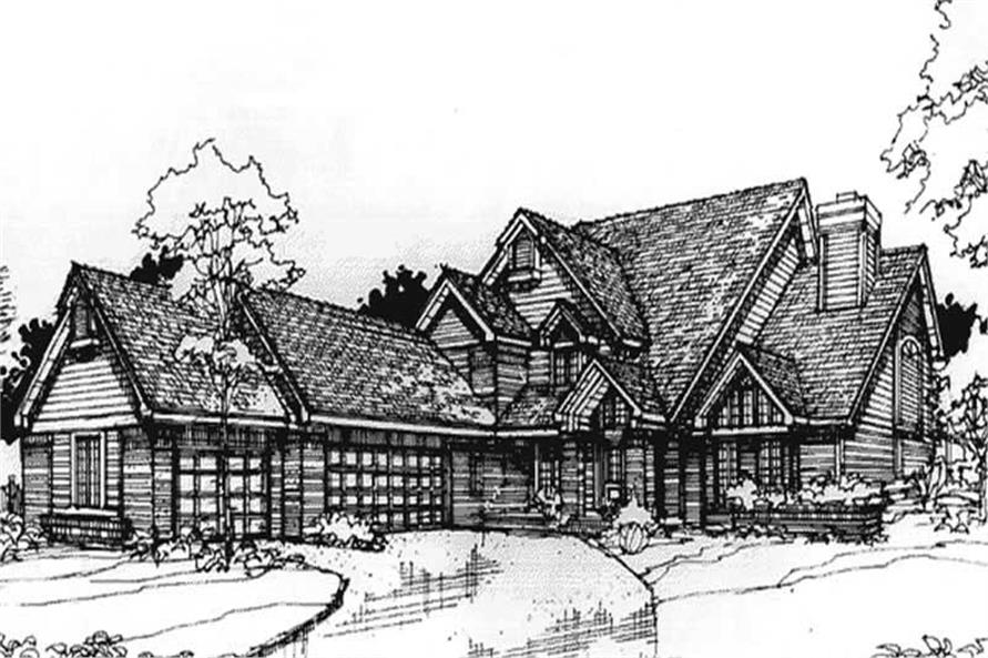 Country House Plans rendering.