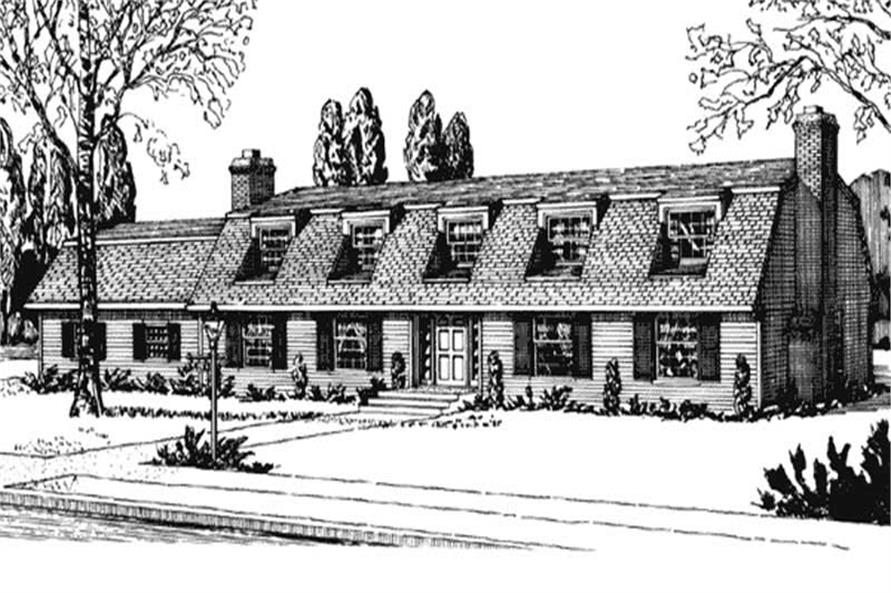 Front View of house plan LS-H-1412-1