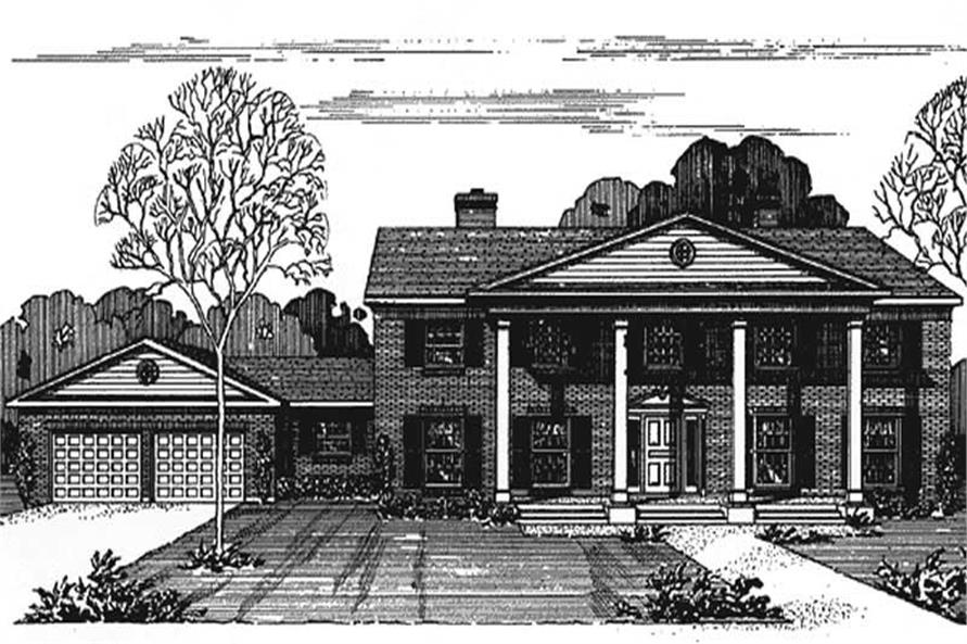Front Elevation to this house plan