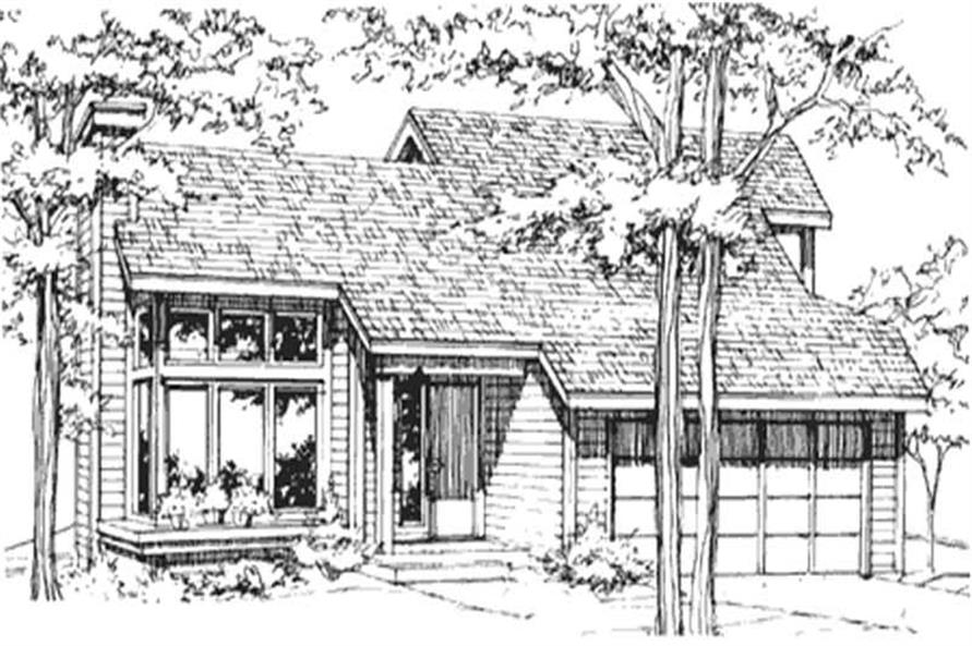 This image shows the Postmodern Style of this House Plan.