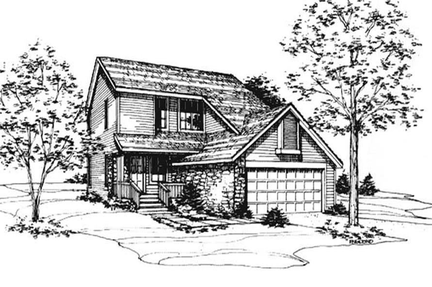 This image shows the Country Style of this house plan.