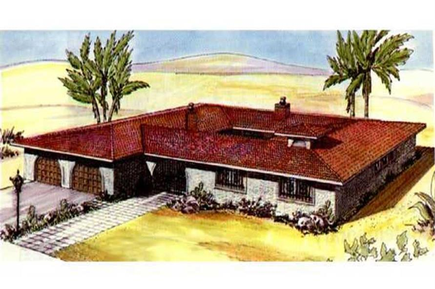 Color Rendering from this house plan