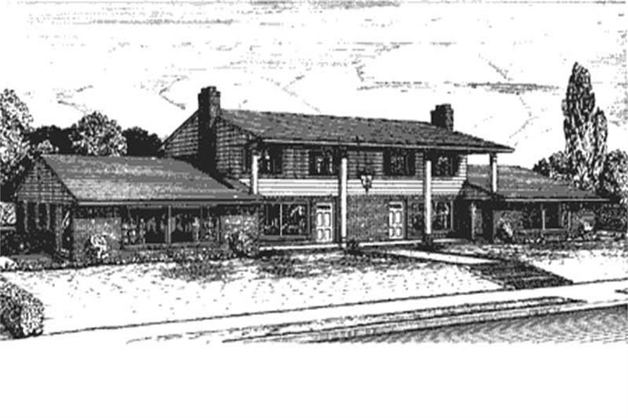 Front View of this house plan.