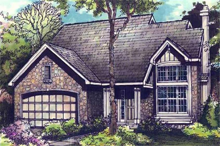 Country Homeplans LS-B-90029 colored rendering.
