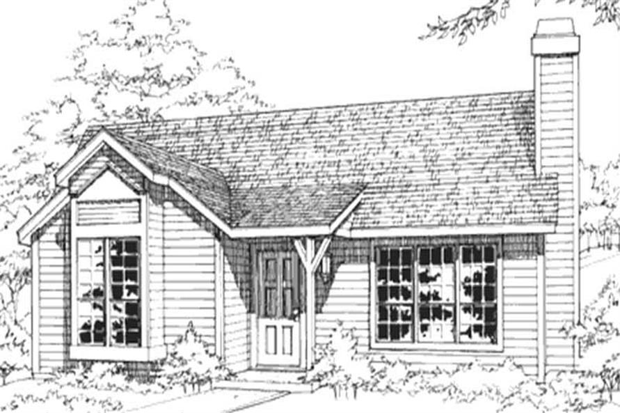 This image shows the Country/Ranch Style of this house plan.