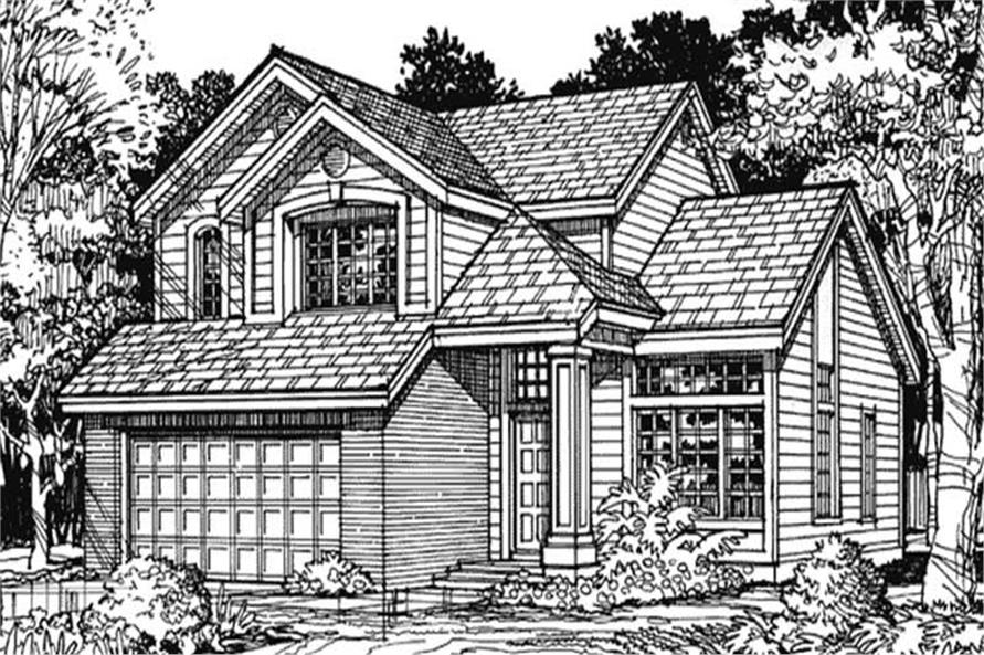 Country Homeplans LS-B-90058 Main Elevation Image.