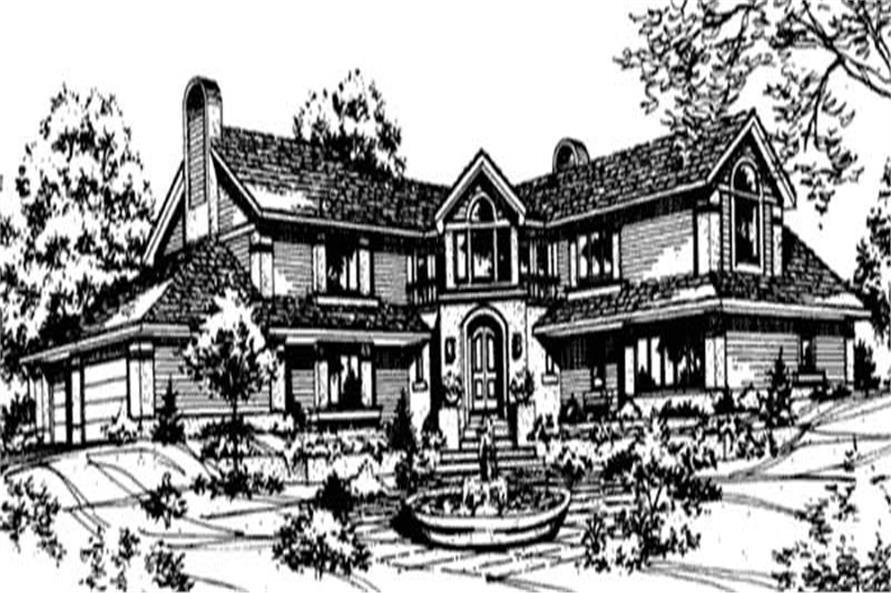 Luxury House Plans LS-B-05-85 rendering.