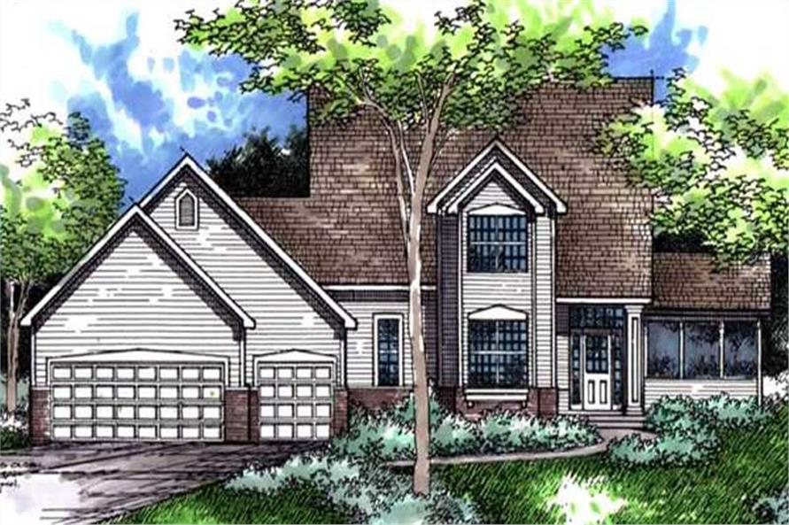 Main image for house plan # 21071