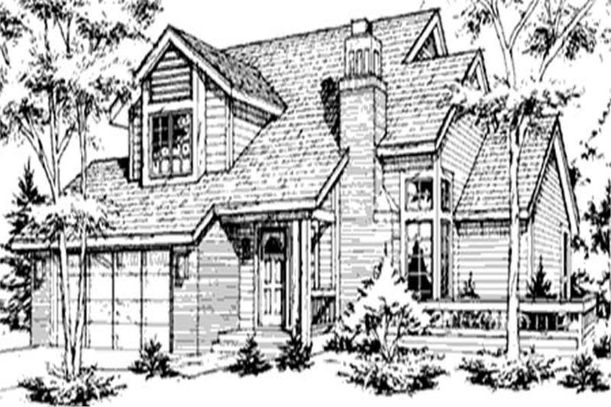 Main image for house plan # 21400