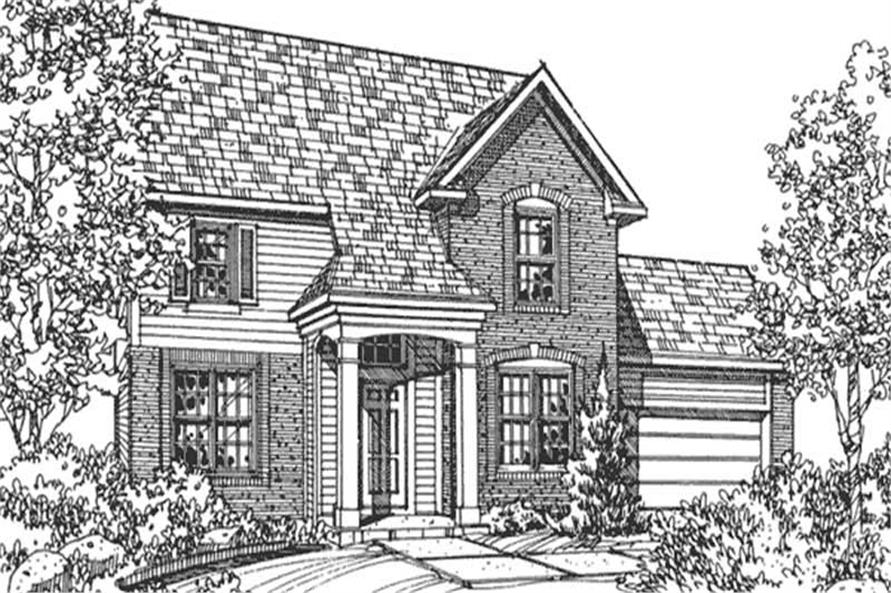 Main image for house plan # 21349
