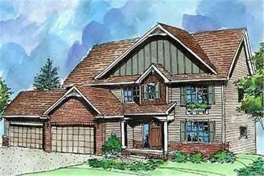 This is a colored photo of House Plan LS-2803-HB