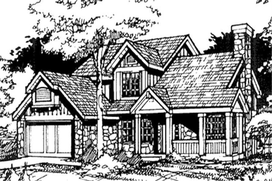 Country Plans LS-B-89047 Front Elevation.