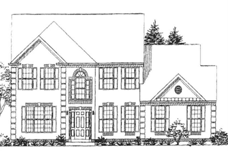 Main image for house plan # 21023