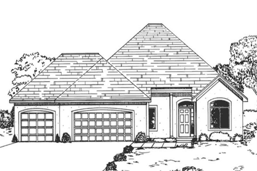 Main image for house plan # 21015