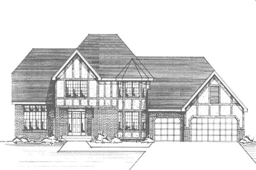 Main image for house plan # 21007