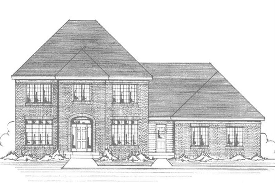 Main image for house plan # 21005
