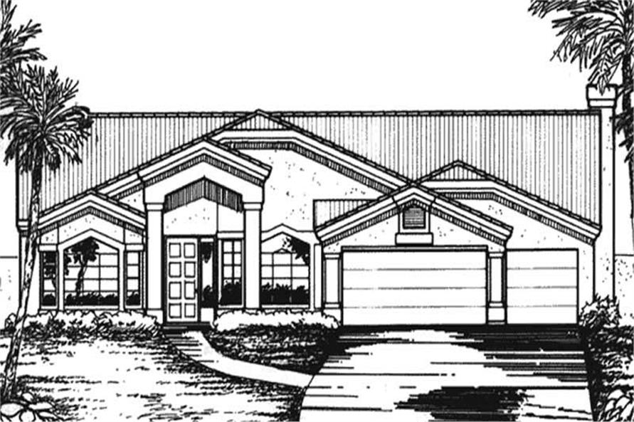 Main image for house plan # 20744