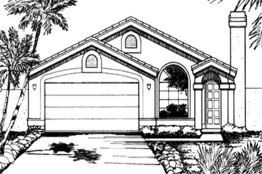 Main image for house plan # 20741