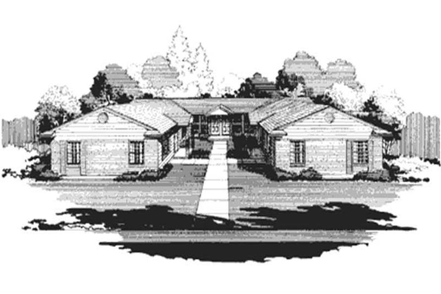 This is a black and white rendering of Multi-Unit Homeplans LS-H-565-1A4.
