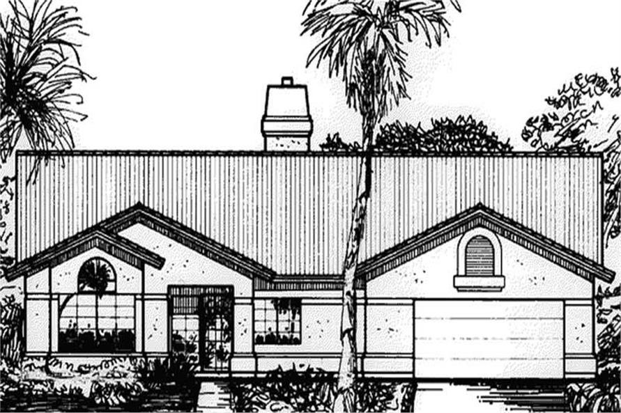 Main image for house plan # 20749