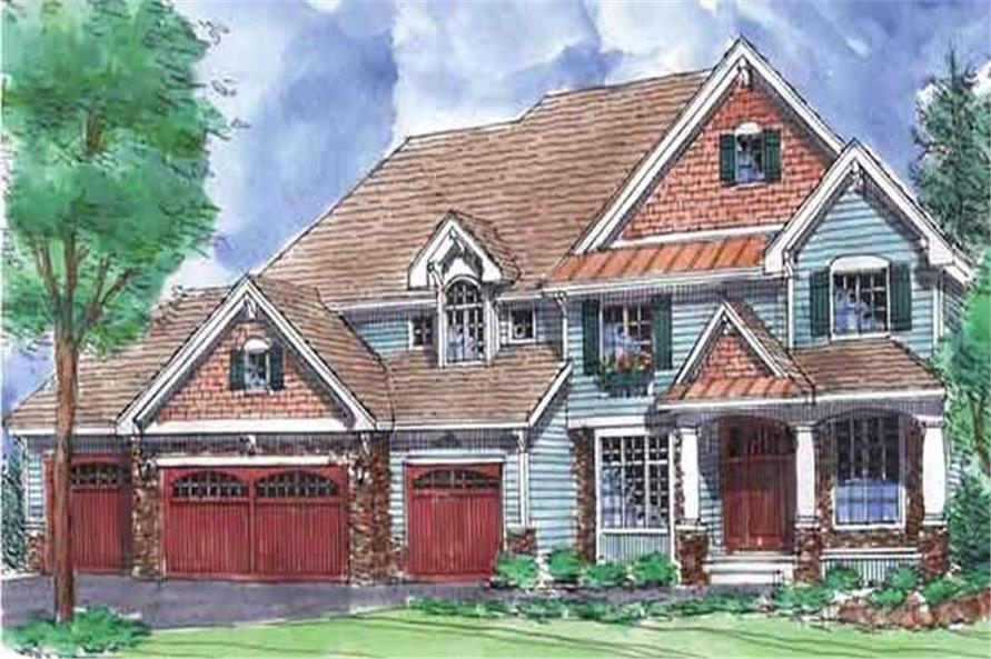 Main image for house plan # 20586