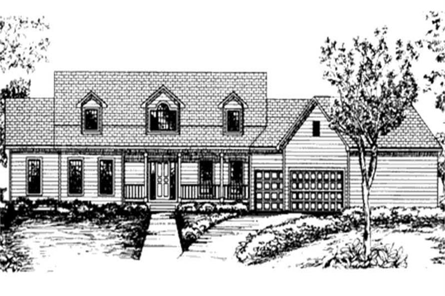 Main image for house plan # 20821