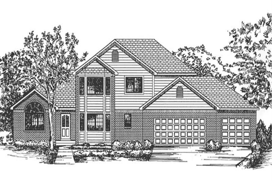 Main image for house plan # 20807