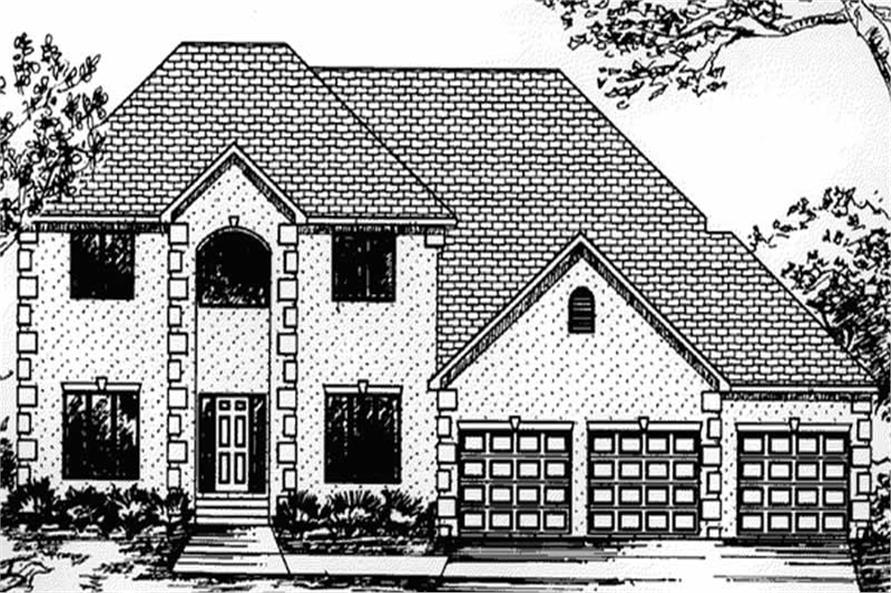 Main image for house plan # 20806