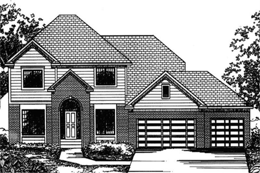Main image for house plan # 20805